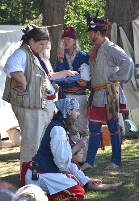 Re-enactors in period dress