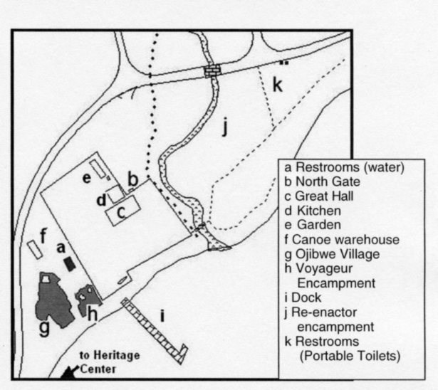 Map of the Historic Depot & Historic Encampment