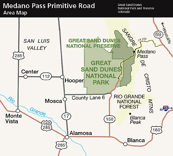 Medano Pass Primitive Road Great Sand Dunes National Park