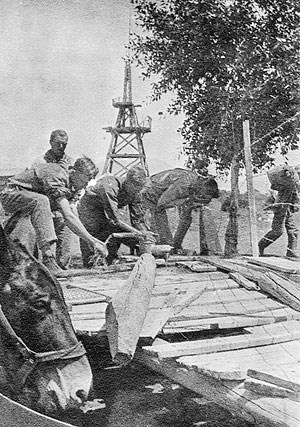 Workers Building Medano Ranch - 1800s