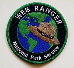 Web Ranger Patch with Words and Ranger Hat