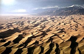 Aerial of dunefield