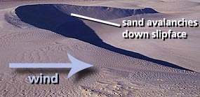 Barchan dune diagram