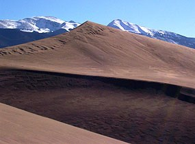 Dune and Sangre de Cristo Mountains