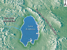 Lake Alamosa diagram