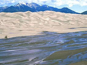 Medano Creek, Dunes, and Mount Herard
