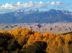 Dunefield and Sangre de Cristo Mountains, Autumn