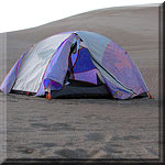Backpacking Tent on Dunes
