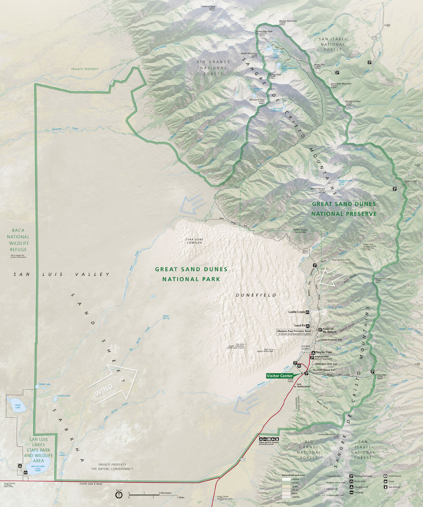 Great Sand Dunes Colorado Around The World In Eighty Years - Map of egypt before the sands