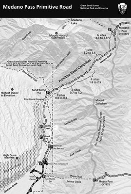 Medano Pass Road Map