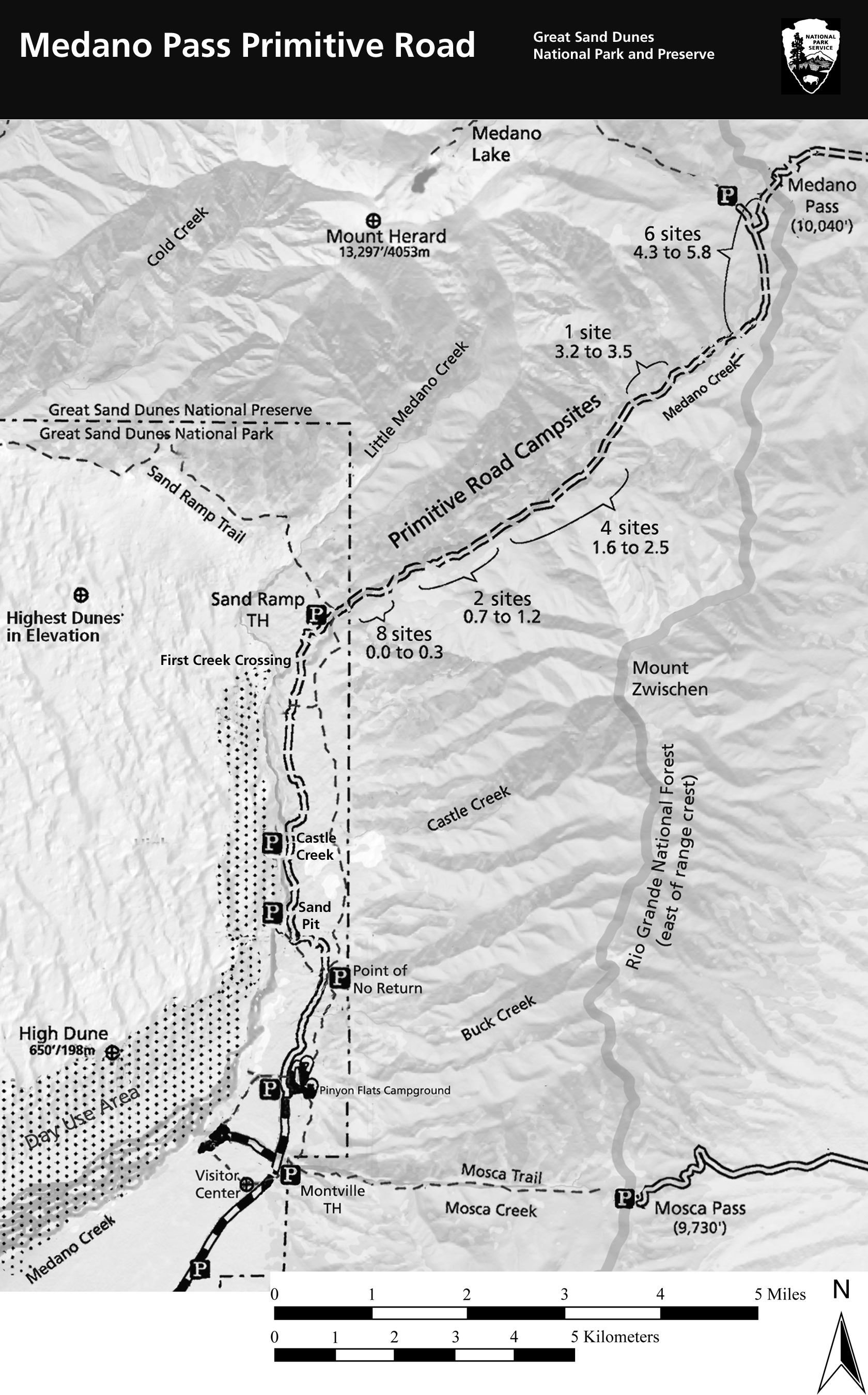 Mosca Colorado Map.Medano Pass Primitive Road Great Sand Dunes National Park