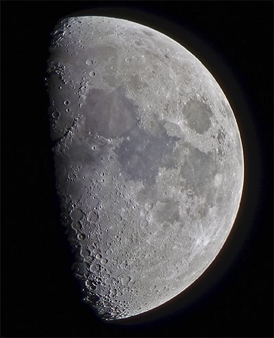 Moon Showing Craters