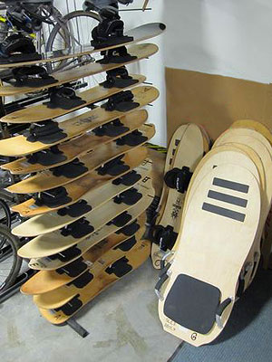 Stack of Sandboards and Sand Sleds
