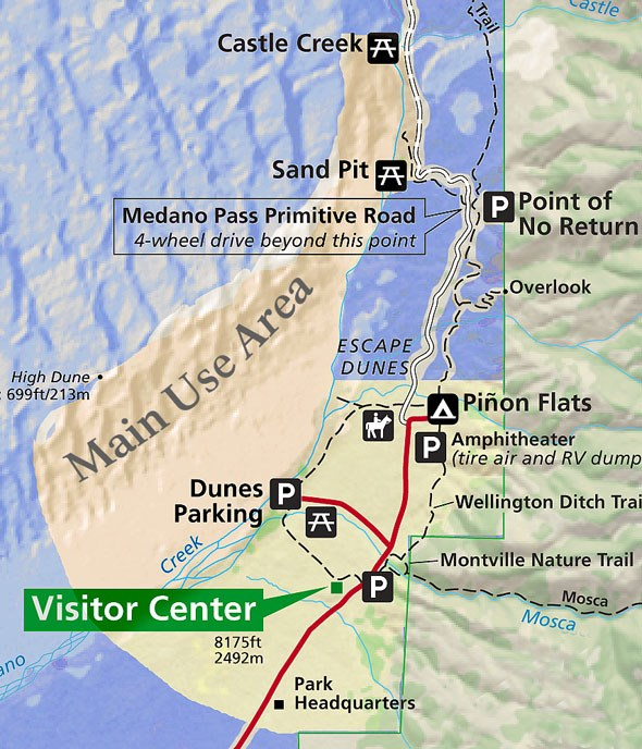 Mosca Colorado Map.Pets Great Sand Dunes National Park Preserve U S National Park