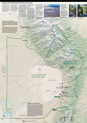 Mosca Colorado Map.Maps Great Sand Dunes National Park Preserve U S National Park