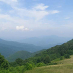 Mountain view from the learning center at Purchase Knob
