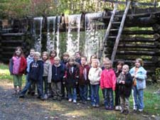 Class photo at Mingus Mill