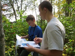high school students collect tree phenology data