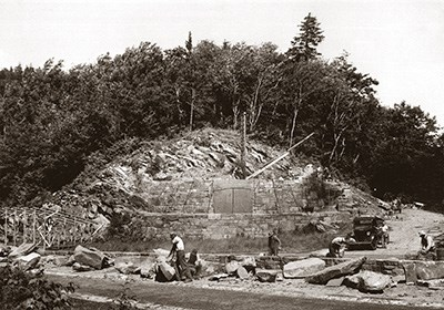 CCC constructing the Rockefeller Memorial at Newfound Gap