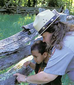 Ranger-led programs offer children an opportunity to explore and learn about the park.