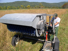 Grass harvester with brush, Cades Cove.