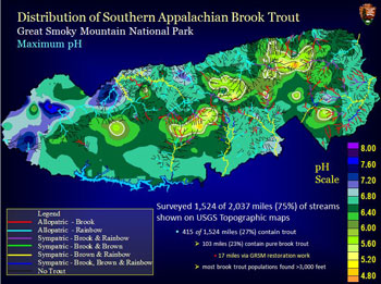 Acid Rain World Map.Acid Deposition To Watersheds Great Smoky Mountains National Park