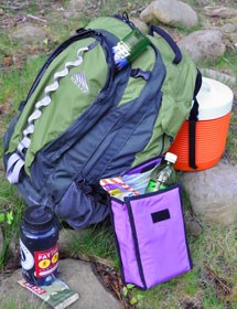 A pack, lunch bag, cooler, water bottle, bug spray and more are potential tasty treats to a bear.