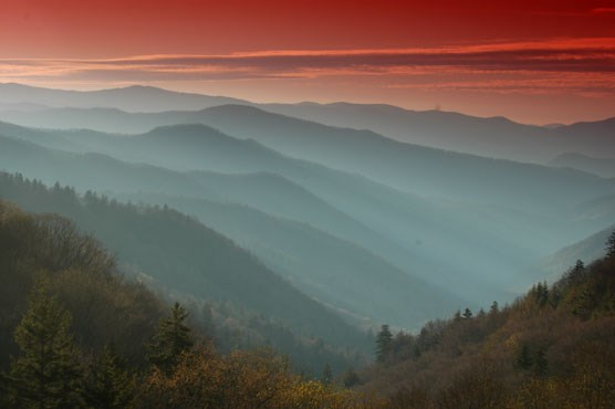 Sunset in Great Smoky Mountains National Park