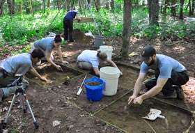 Excavation at Cataloochee, on the North Carolina side of the park.