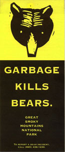 """Garbage Kills Bears"" educational brochure."