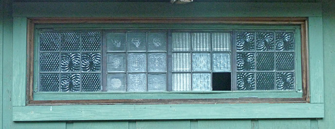 Leaded glass window that was stolen from Elkmont cabin.
