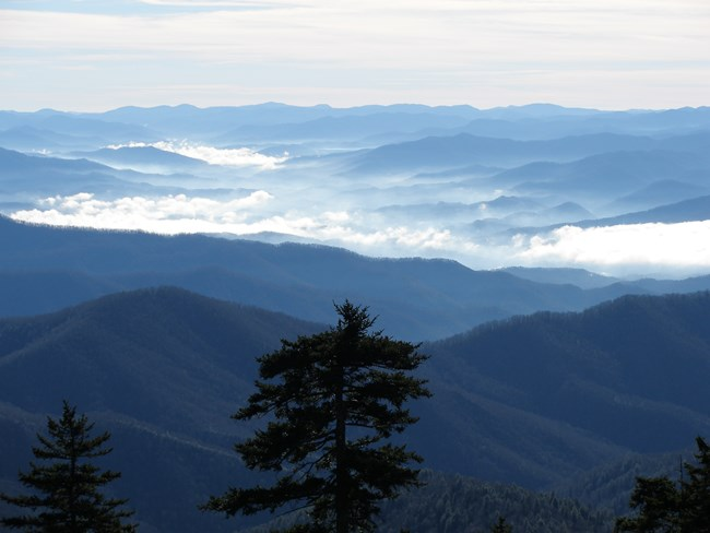 View of Western North Carolina from Clingmans Dome