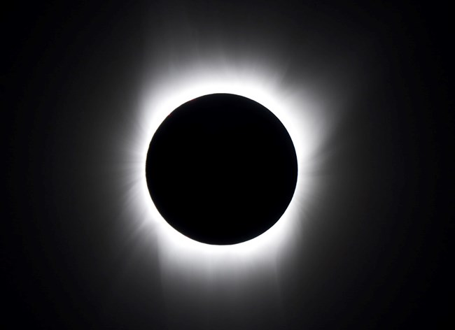 Sun's corona during total solar eclipse