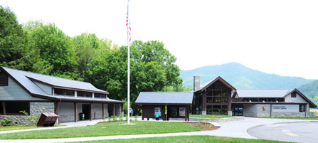 The new Oconaluftee Visitor Center