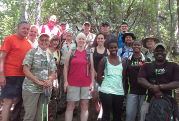 Group of hikers on Smokemont Loop Trail