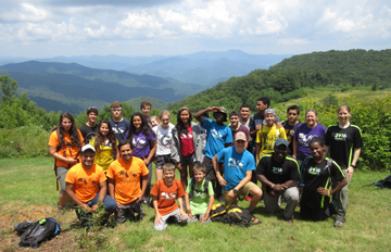 Group Shot with Outdoor Mission Camp