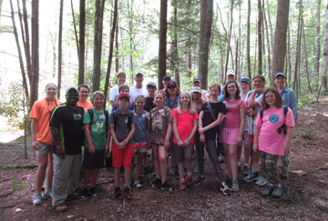 Group Shot with Smoky Mountain Field School Group