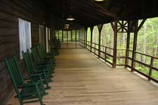 Front porch of Clubhouse