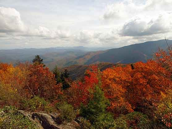 The view from Mount Cammerer Fire Tower on Oct. 10.