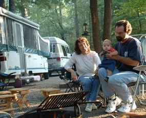 Frontcountry campsites allow visitors to camp near their car.