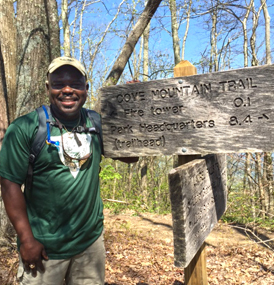 Park Superintendent on Cove Mountain Trail