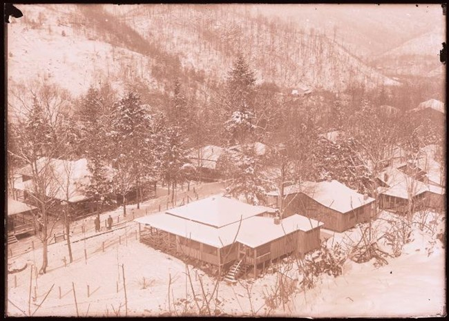 Elkmont in winter circa 1928
