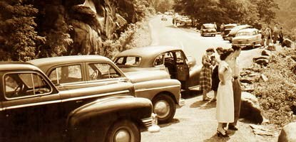 Auto touring has long been a favorite way to enjoy the park.