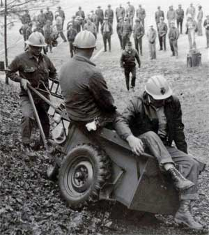 "Motorized ""buggy"" used to pave the trail"