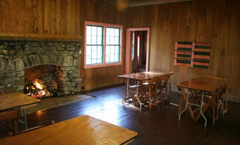 Main meeting room in Spence Cabin