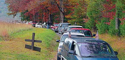 Traffic congestion in Cades Cove.