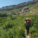 Backpacking in Death Canyon