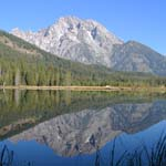 Mount Moran reflection in String Lake