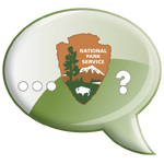 NPS Arrowhead in cartoon bubble
