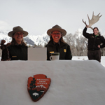 Rangers at Grand Teton's Snow Desk